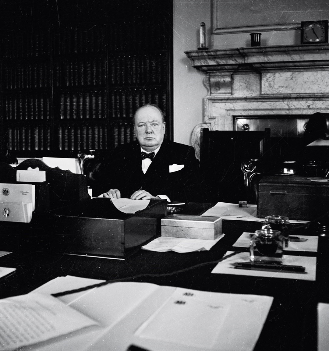 Sir Winston Churchill in the Cabinet Room, 1940, by Cecil Be