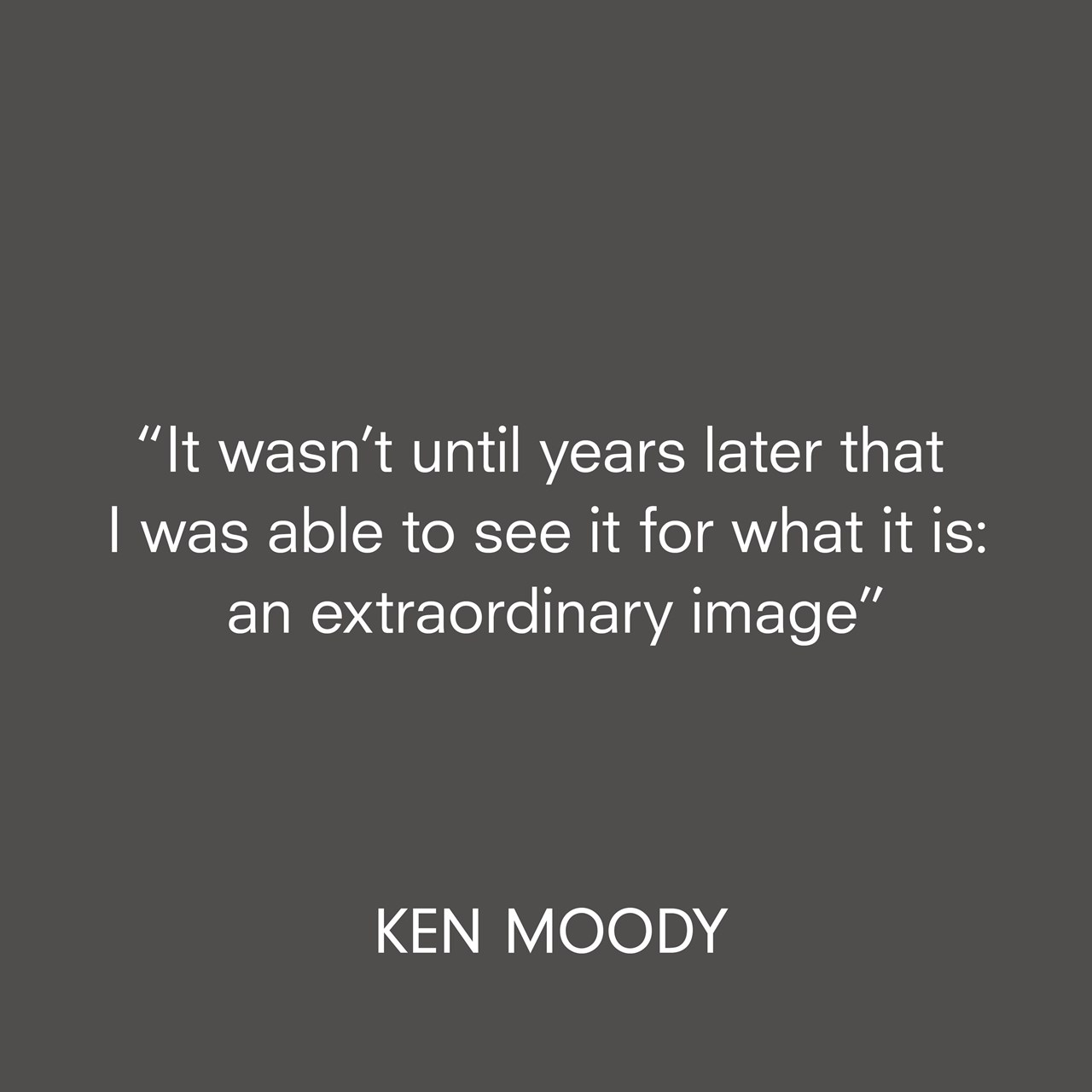Robert Mapplethorpe quote Ken Moody interview