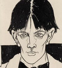 Aubrey Beardsley, Self-Portrait, 1892