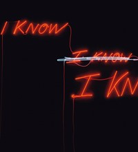 Lot 3, Tracey Emin, I know I Know I Know
