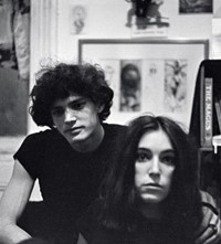 Patti Smith and Robert Mapplethorpe by Lloyd Ziff
