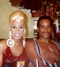 RuPaul and Willi Ninja at the Coffee Shop restaura