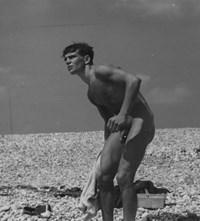 men vintage Naked beach