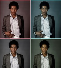 Jean-Michel Basquiat studio Richard Corman fashion style