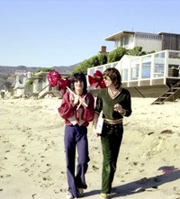 Mick Jagger and Ronnie Wood with Balloons at Malib