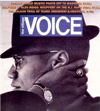 Malcolm X on the cover of The Village Voice