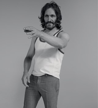 Vincent Gallo wears vest by Saint Laurent