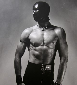 Rick Castro fetish erotic photography leather mask