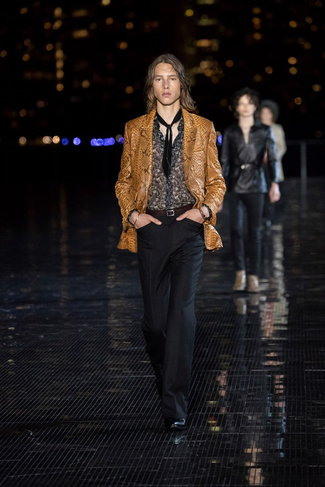 Saint Laurent 2018 men's show new york anthony vaccarello