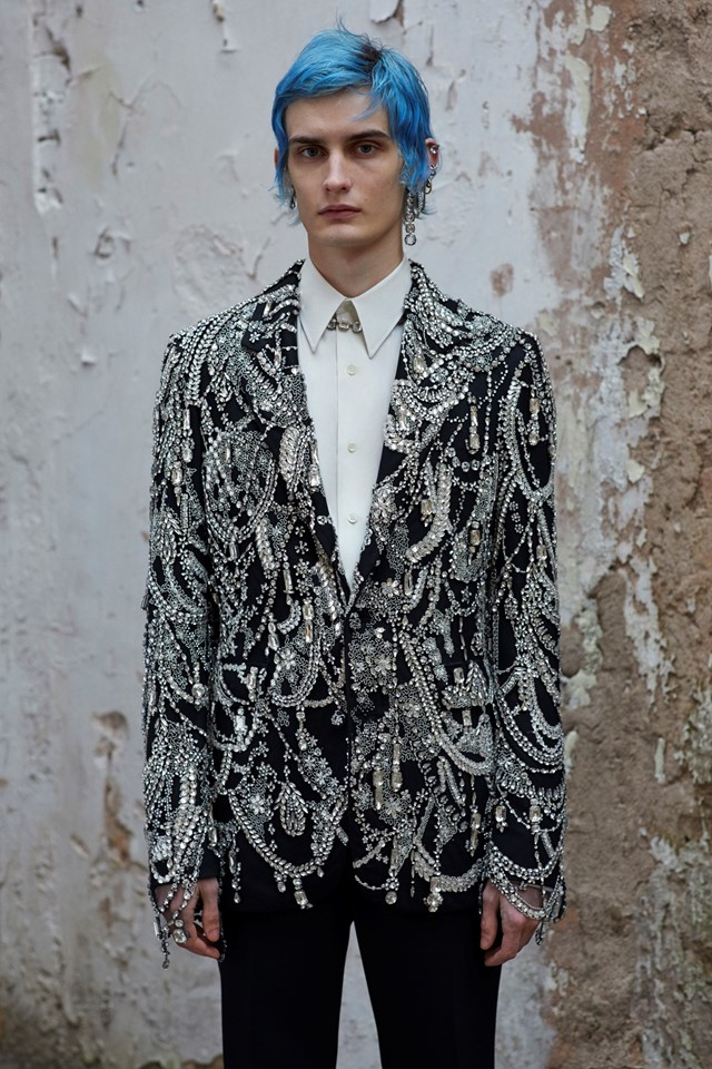 Alexander McQueen AW19 Menswear Collection Ethan James Green