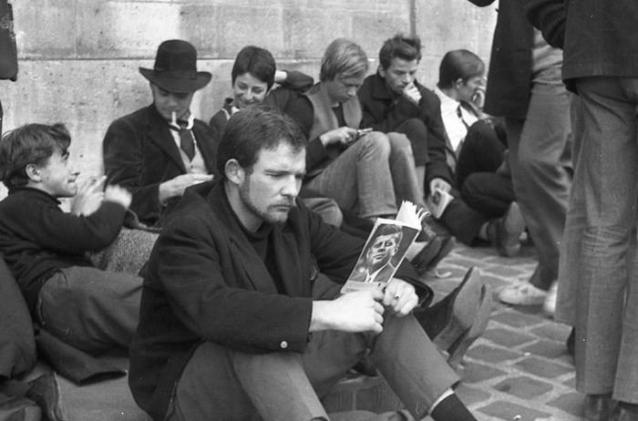 Parisian Beatniks Hanging Out by the Seine, 1965 (