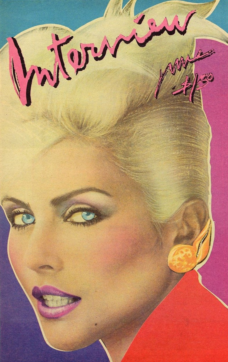 Debbie Harry on the cover of Interview magazine