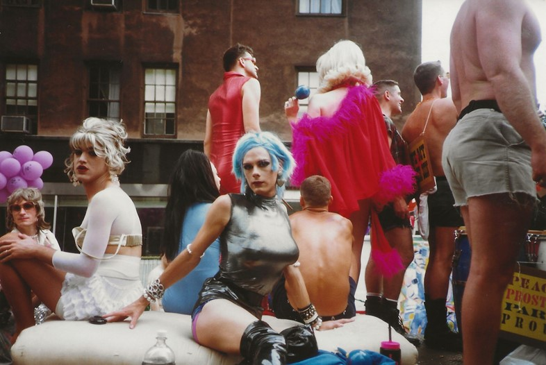 Miss Demeanor at the Gay Pride Parade. 1991