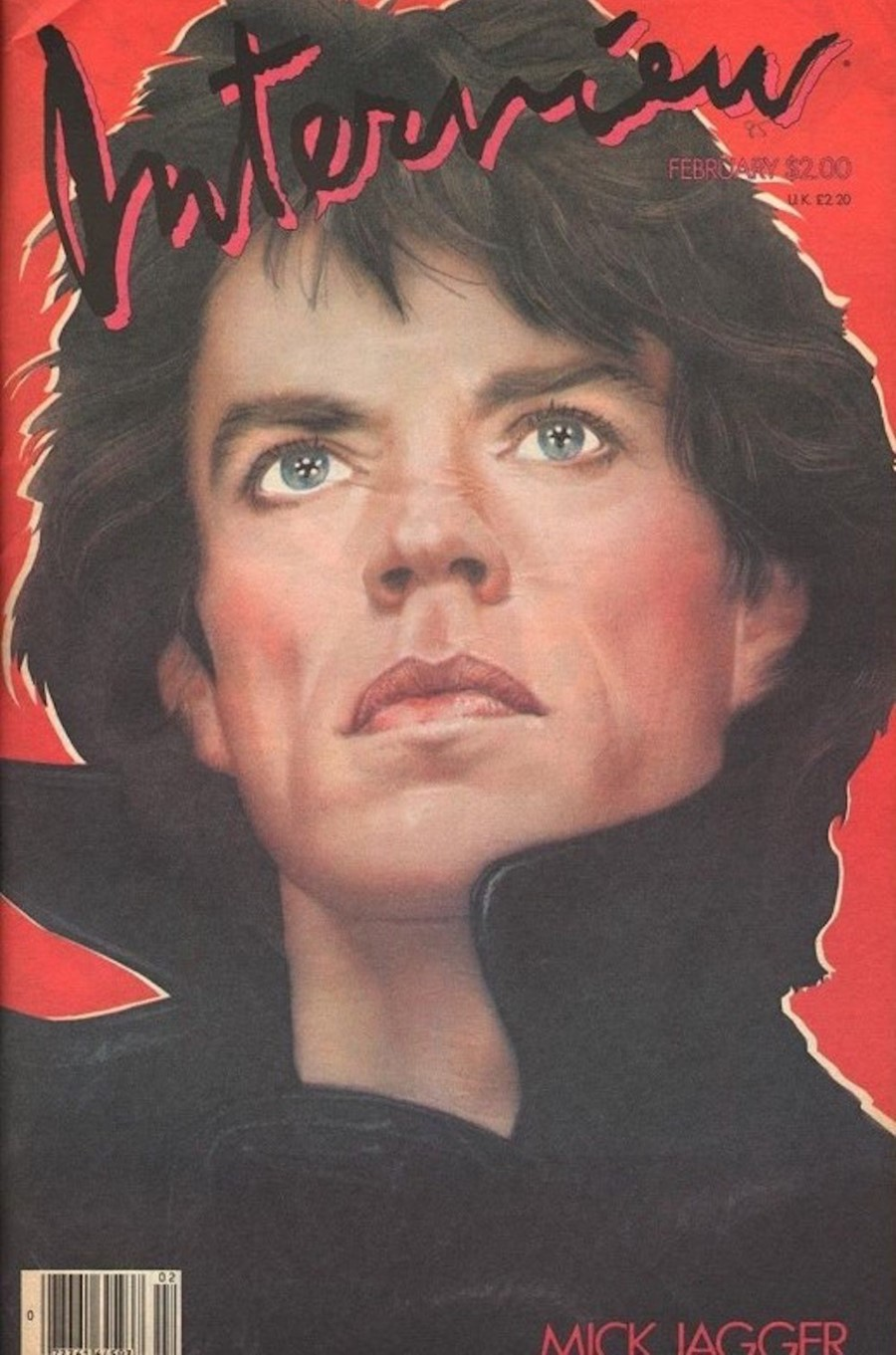 Mick Jagger on the cover of Interview magazine