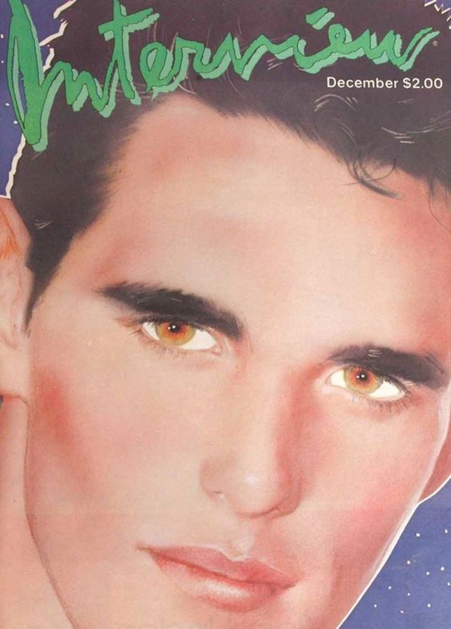 Matt Dillon on the cover of Interview magazine